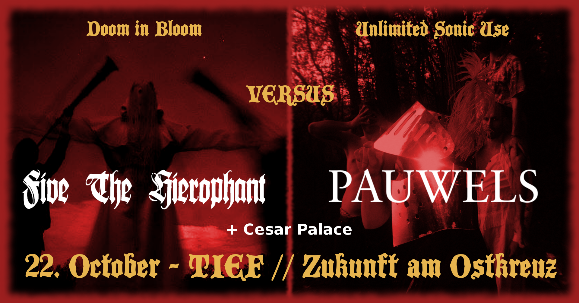 Five The Hierophant + Pauwels @ TIEF, Zukunft am Ostkreuz Berlin